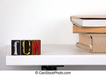 mot, coloré, bois, -, amusement, lettres
