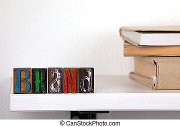 mot, coloré, bois, marque, -, lettres
