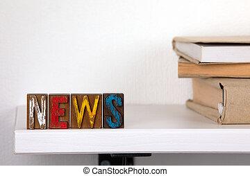 mot, coloré, bois, -, nouvelles, lettres