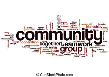 mot, communauté, nuage