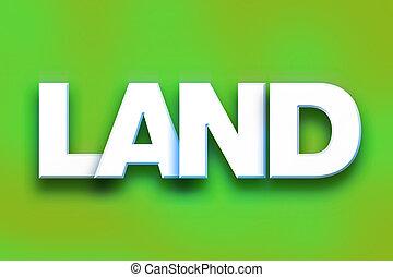 mot, concept, art, coloré, terre