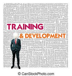 mot, concept, formation, nuage, développement affaires, finance