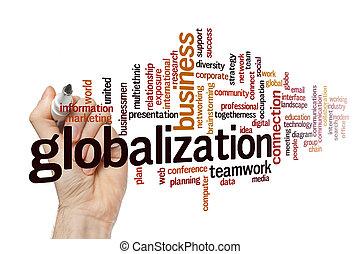 mot, concept, nuage, globalisation