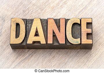 mot, danse, résumé, -, bois, type