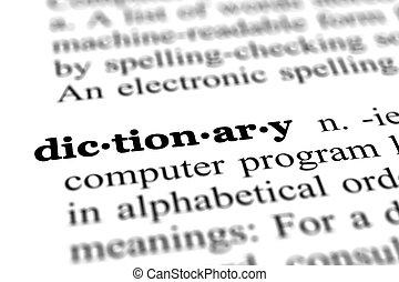mot, dictionnaire