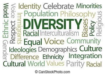 mot, diversité, nuage