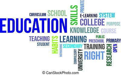 mot, education, -, nuage