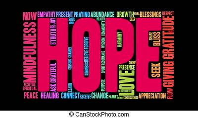 mot, espoir, nuage