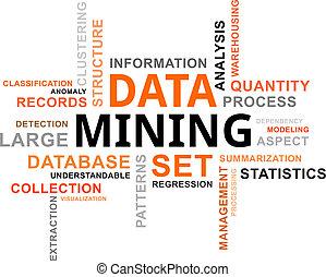 mot, exploitation minière, -, nuage, données