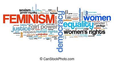 mot, féminisme, nuage
