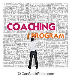 mot, finance, concept affaires, entraînement, programme, nuage