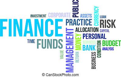 mot, -, finance, nuage