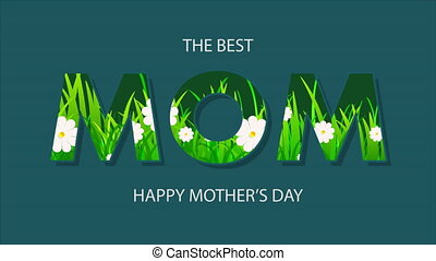 mot, fleurs, maman