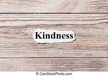 mot, fond, bois, paper., mots, gentillesse, concept.