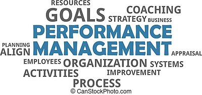 mot, gestion, -, nuage, performance