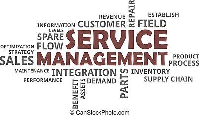 mot, gestion, -, nuage, service