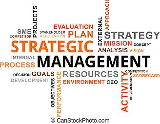 mot, gestion, -, nuage, stratégique