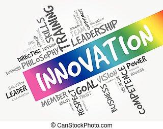 mot, innovation, nuage, concept