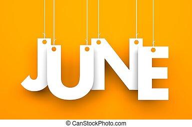mot, juin, cordes, pendre