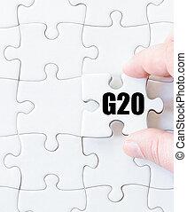mot, laissez perplexe morceau, dernier, g20