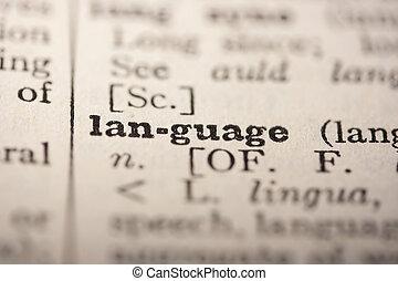 mot, langue