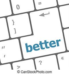 mot, mieux, ordinateur pc, clã©, clavier