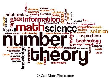 mot, nombre, nuage, théorie