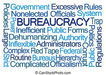 mot, nuage, bureaucratie