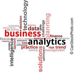 mot, -, nuage, business, analytics