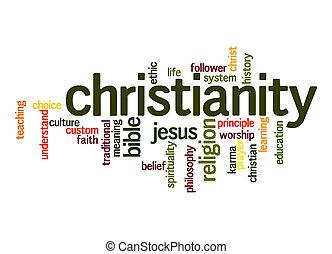 mot, nuage, christianisme