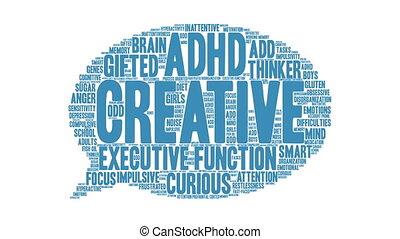 mot, nuage, créatif
