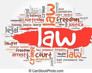 mot, nuage, droit & loi