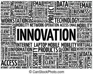 mot, nuage, innovation