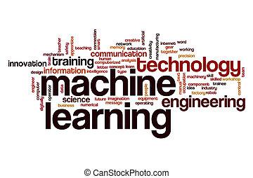 mot, nuage, machine, apprentissage