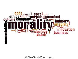 mot, nuage, moralité