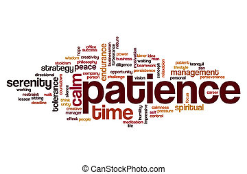 mot, nuage, patience