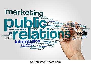 mot, nuage, relations, public