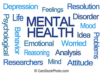 mot, nuage, santé mentale
