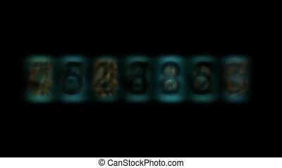 mot passe, numérique, bleu, nombre, fond