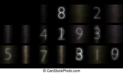 mot passe, numérique, nombre, métal, fond