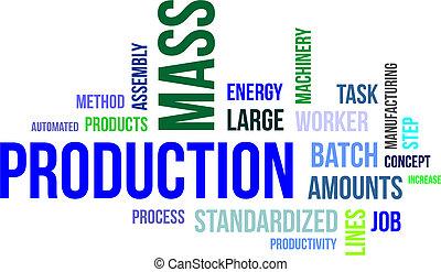 mot, production, -, masse, nuage