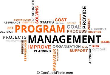 mot, programme, -, nuage, gestion