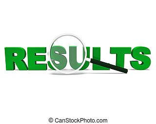 mot, résultats, partition, résultat, ou, accomplissement, spectacles