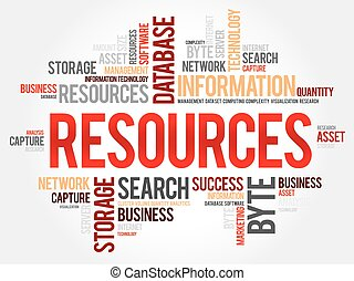 mot, ressources, nuage