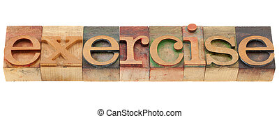 mot, type, exercice, letterpress