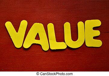 mot, valeur