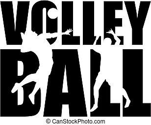 mot, volley-ball, coupure