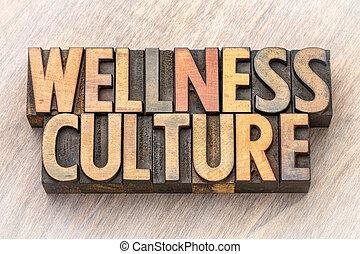 mot, wellness, résumé, -, culture, bois, type