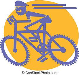 motard montagne, équitation bicyclette