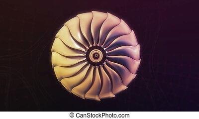 moteur, jet, avion ligne, métallique, avion, noir, nuit, turboréacteur, avion, grows